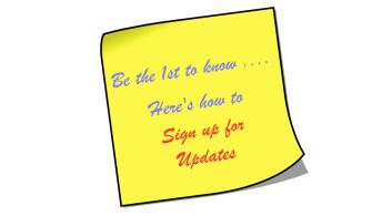 Sticky of blog updates signup