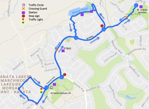 Pedal Play Kanata North 2017 Route Map