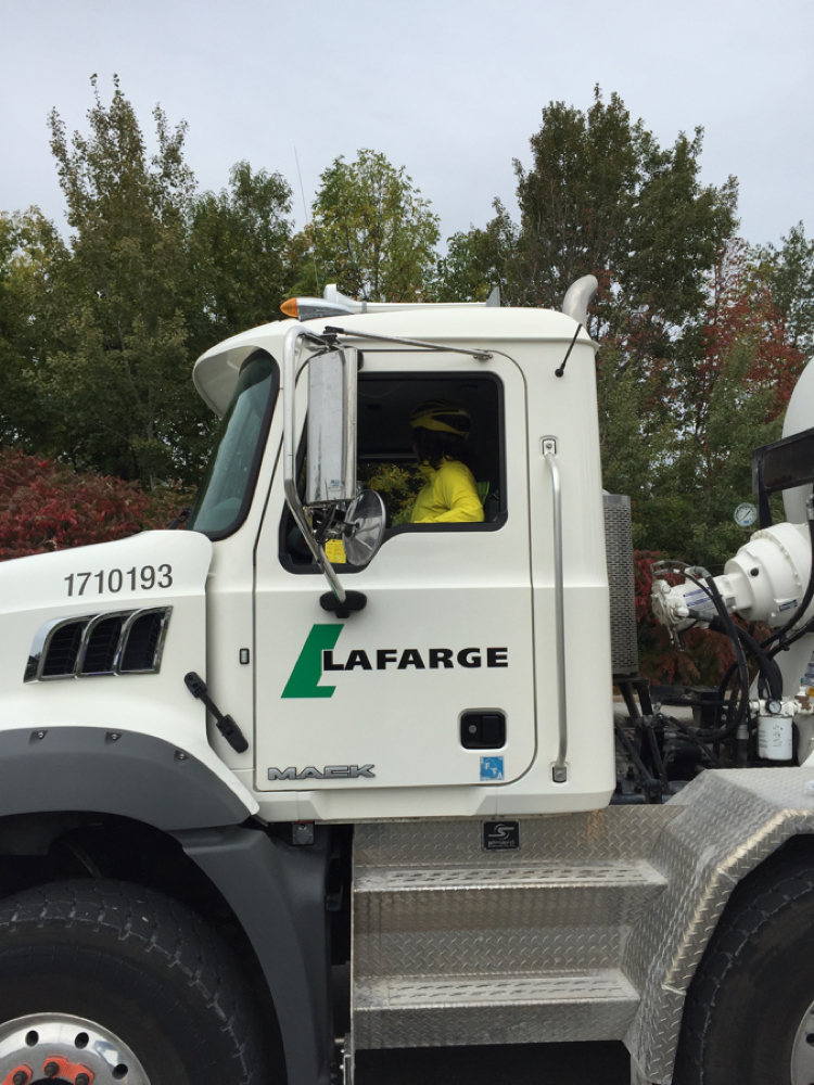 Image of a Lafarge large truck