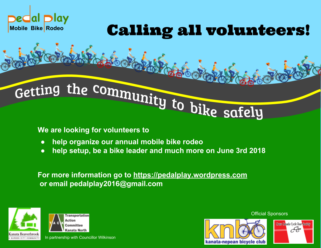 Pedal Play 2018 Volunteer Poster